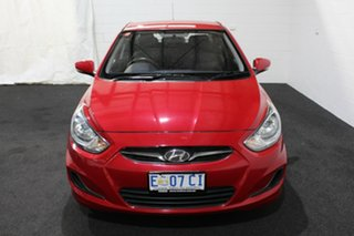 2014 Hyundai Accent RB2 Active Veloster Red 4 Speed Sports Automatic Sedan