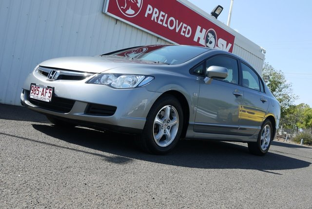Used Honda Civic 8th Gen MY07 VTi Bundaberg, 2006 Honda Civic 8th Gen MY07 VTi Silver 5 Speed Automatic Sedan
