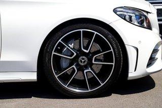2018 Mercedes-Benz C-Class W205 809MY C300 9G-Tronic White 9 Speed Sports Automatic Sedan