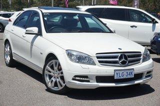 2010 Mercedes-Benz C-Class W204 MY10 C250 CGI Avantgarde White 5 Speed Sports Automatic Sedan.