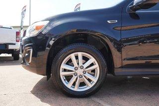 2013 Mitsubishi ASX XB MY14 Aspire (4WD) Black Continuous Variable Wagon.