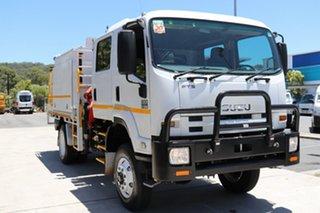 2013 Isuzu FTS 800 FH Crew Cab White 6 speed Manual Truck