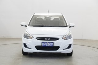 2015 Hyundai Accent RB2 MY15 Active Crystal White 4 Speed Sports Automatic Hatchback.
