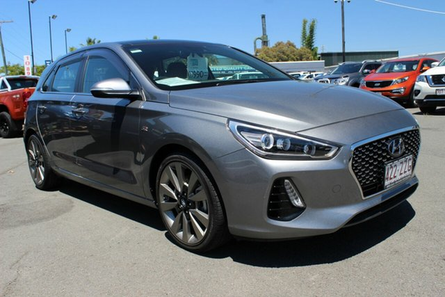 Used Hyundai i30 PD MY18 SR D-CT Premium Moorooka, 2017 Hyundai i30 PD MY18 SR D-CT Premium Grey 7 Speed Sports Automatic Dual Clutch Hatchback