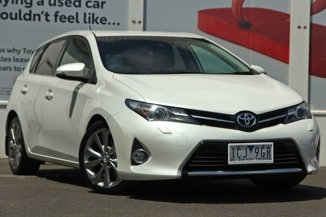 Pre-Owned Toyota Corolla ZRE182R Levin S-CVT ZR Ferntree Gully, 2014 Toyota Corolla ZRE182R Levin S-CVT ZR White 7 Speed Constant Variable Hatchback