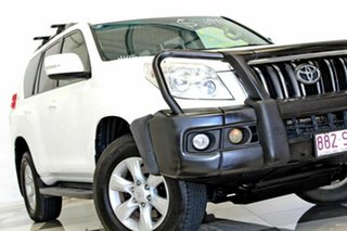 2012 Toyota Landcruiser Prado GRJ150R 11 Upgrade GXL (4x4) White 5 Speed Sequential Auto Wagon.