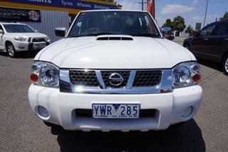 2012 Nissan Navara D22 S5 ST-R Polar White 5 Speed Manual Utility
