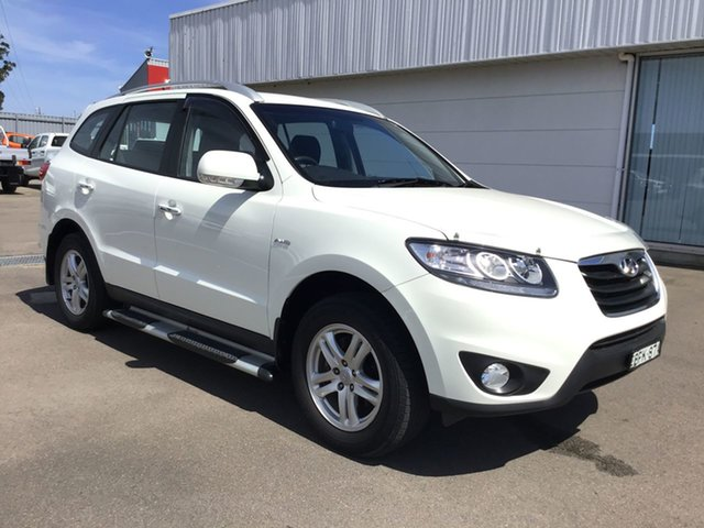 Used Hyundai Santa Fe CM MY10 Elite Cardiff, 2010 Hyundai Santa Fe CM MY10 Elite White 6 Speed Sports Automatic Wagon