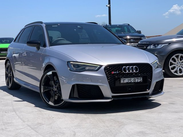 Used Audi RS 3 8V MY18 Sportback S Tronic Quattro Liverpool, 2017 Audi RS 3 8V MY18 Sportback S Tronic Quattro Silver 7 Speed Sports Automatic Dual Clutch