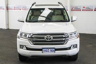 2016 Toyota Landcruiser VDJ200R MY16 VX (4x4) Glacier White 6 Speed Automatic Wagon.