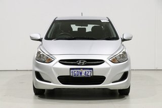 2017 Hyundai Accent RB4 MY17 Active Silver 6 Speed CVT Auto Sequential Hatchback.