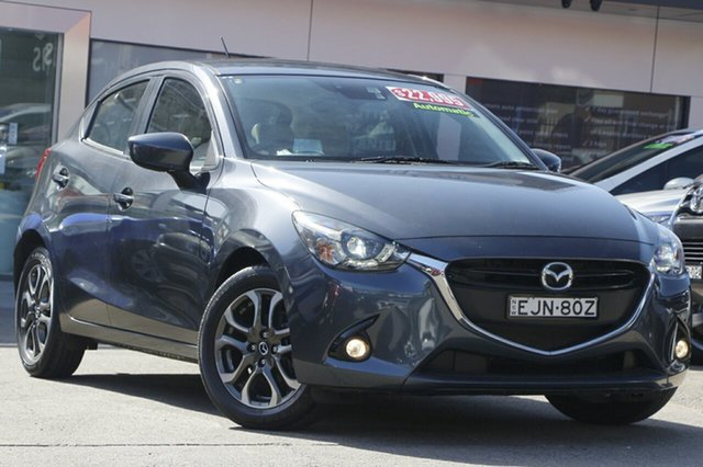 Used Mazda 2 DJ2HAA Genki SKYACTIV-Drive Homebush, 2016 Mazda 2 DJ2HAA Genki SKYACTIV-Drive Grey 6 Speed Sports Automatic Hatchback