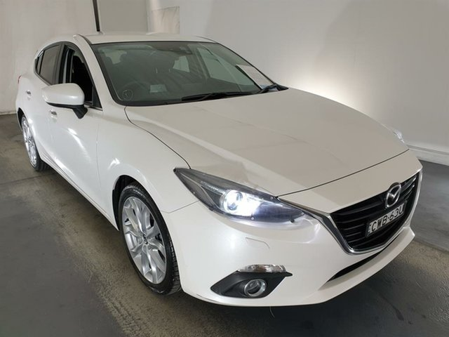 Used Mazda 3 BM5438 SP25 SKYACTIV-Drive GT Maryville, 2014 Mazda 3 BM5438 SP25 SKYACTIV-Drive GT White 6 Speed Sports Automatic Hatchback