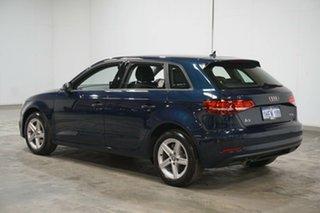 2017 Audi A3 8V MY17 Sportback S Tronic Blue 7 Speed Sports Automatic Dual Clutch Hatchback.