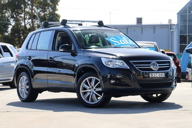 Used Volkswagen Tiguan 5N MY11 125TSI DSG 4MOTION Kirrawee, 2011 Volkswagen Tiguan 5N MY11 125TSI DSG 4MOTION Black 7 Speed Sports Automatic Dual Clutch Wagon