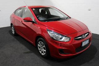 2014 Hyundai Accent RB2 Active Veloster Red 4 Speed Sports Automatic Sedan.