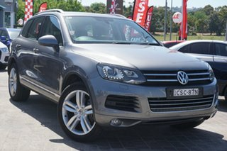 2014 Volkswagen Touareg 7P MY14 V6 TDI Tiptronic 4MOTION Grey 8 Speed Sports Automatic Wagon.