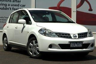 2011 Nissan Tiida C11 S3 ST White 4 Speed Automatic Hatchback.