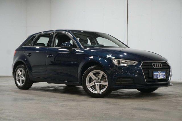 Used Audi A3 8V MY17 Sportback S Tronic Welshpool, 2017 Audi A3 8V MY17 Sportback S Tronic Blue 7 Speed Sports Automatic Dual Clutch Hatchback