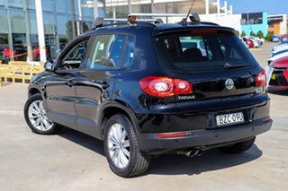 2011 Volkswagen Tiguan 5N MY11 125TSI DSG 4MOTION Black 7 Speed Sports Automatic Dual Clutch Wagon.