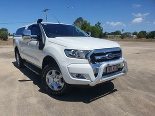 2017 Ford Ranger PX MkII XLT Super Cab White 6 Speed Manual Utility.
