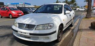 2000 Nissan Pulsar N15 S2 LX White 5 Speed Manual Sedan.