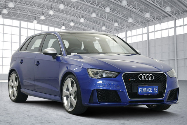 Used Audi RS 3 8V MY16 Sportback S Tronic Quattro Victoria Park, 2015 Audi RS 3 8V MY16 Sportback S Tronic Quattro Blue 7 Speed Sports Automatic Dual Clutch