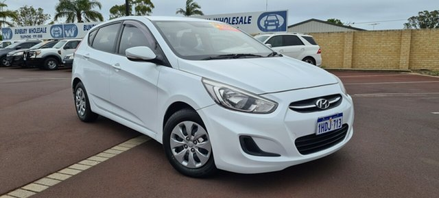 Used Hyundai Accent RB4 MY17 Active East Bunbury, 2017 Hyundai Accent RB4 MY17 Active White 6 Speed Constant Variable Hatchback