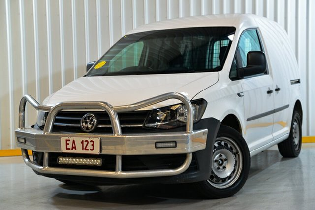 Used Volkswagen Caddy 2KN MY18 TSI220 SWB DSG Hendra, 2017 Volkswagen Caddy 2KN MY18 TSI220 SWB DSG White 7 Speed Sports Automatic Dual Clutch Van