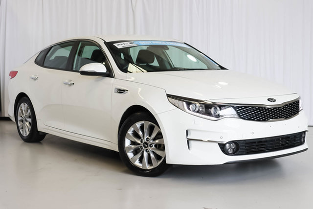 Used Kia Optima JF MY16 SI Wangara, 2016 Kia Optima JF MY16 SI White 6 Speed Sports Automatic Sedan