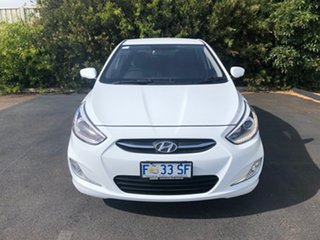 2017 Hyundai Accent RB4 MY17 SR Crystal White 6 Speed Sports Automatic Hatchback.