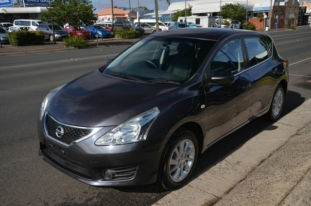 Used Nissan Pulsar C12 ST Toowoomba, 2013 Nissan Pulsar C12 ST Grey Continuous Variable Hatchback