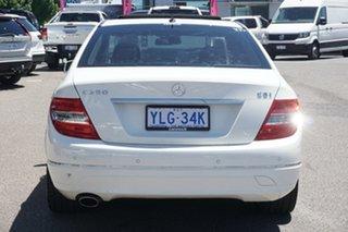 2010 Mercedes-Benz C-Class W204 MY10 C250 CGI Avantgarde White 5 Speed Sports Automatic Sedan