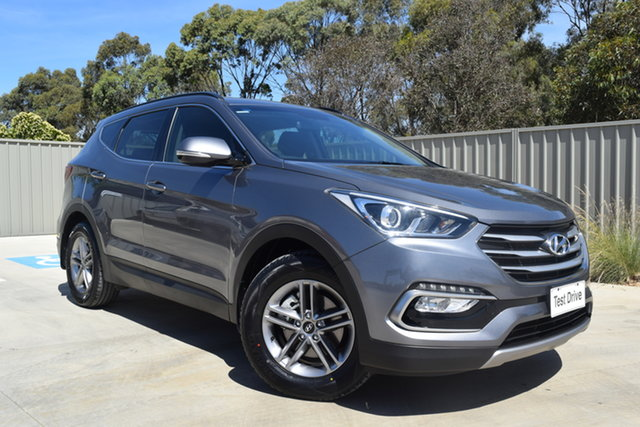 Used Hyundai Santa Fe DM3 MY17 Active Echuca, 2016 Hyundai Santa Fe DM3 MY17 Active Graphite 6 Speed Sports Automatic Wagon
