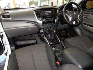 2017 Mitsubishi Triton MQ MY17 GLS (4x4) White 6 Speed Manual Dual Cab Utility.