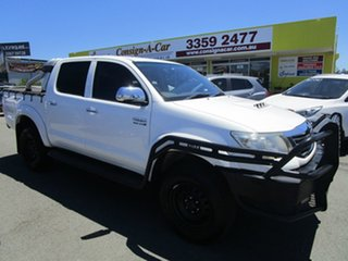 2011 Toyota Hilux KUN26R MY12 SR5 Double Cab White 4 Speed Automatic Utility.