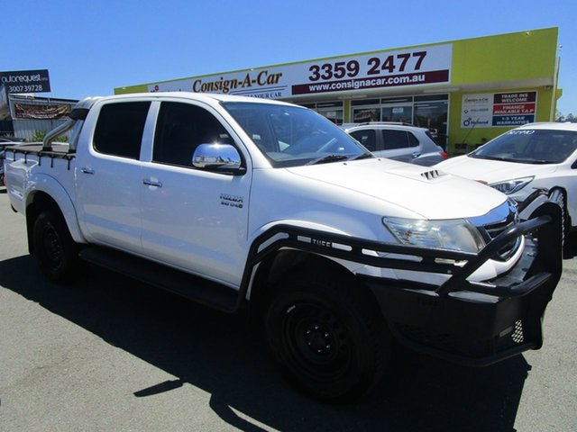 Used Toyota Hilux KUN26R MY12 SR5 Double Cab Kedron, 2011 Toyota Hilux KUN26R MY12 SR5 Double Cab White 4 Speed Automatic Utility