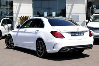2018 Mercedes-Benz C-Class W205 809MY C300 9G-Tronic White 9 Speed Sports Automatic Sedan.