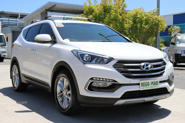 Used Hyundai Santa Fe DM2 MY15 Elite Robina, 2016 Hyundai Santa Fe DM2 MY15 Elite White 6 speed Automatic Wagon