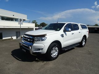 2016 Ford Ranger PX MkII XLT Double Cab Cool White 6 Speed Sports Automatic Utility.
