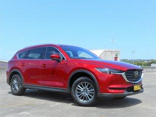 2018 Mazda CX-8 KG2W2A Sport SKYACTIV-Drive FWD Red 6 Speed Sports Automatic Wagon.
