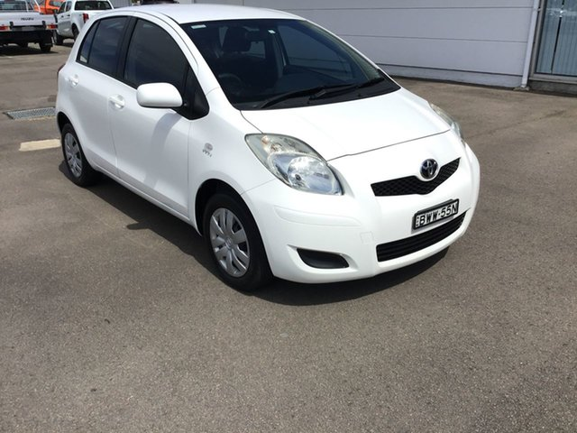 Pre-Owned Toyota Yaris NCP90R MY11 YR Cardiff, 2011 Toyota Yaris NCP90R MY11 YR White 5 Speed Manual Hatchback