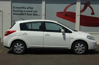 2011 Nissan Tiida C11 S3 ST White 4 Speed Automatic Hatchback