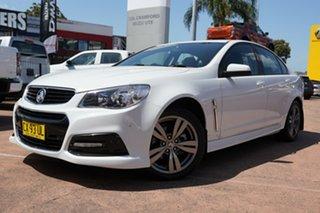 2013 Holden Commodore VF SV6 White 6 Speed Manual Sedan.