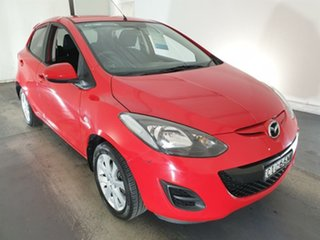 2012 Mazda 2 DE10Y2 MY12 Maxx Red 4 Speed Automatic Hatchback.