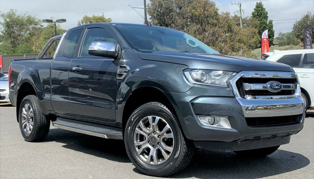 Used Ford Ranger PX MkII XLT Super Cab Wantirna South, 2015 Ford Ranger PX MkII XLT Super Cab Grey 6 Speed Manual Utility