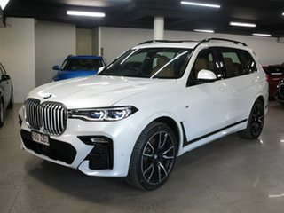 2019 BMW X7 G07 xDrive30d Steptronic Mineral White 8 Speed Sports Automatic Wagon.