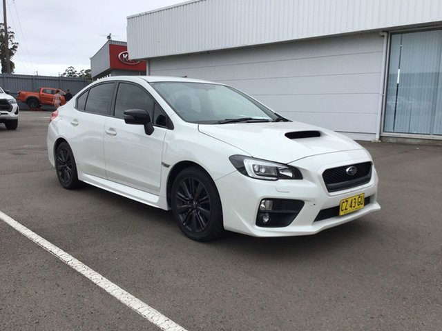 Used Subaru WRX V1 MY15 AWD Cardiff, 2014 Subaru WRX V1 MY15 AWD White 6 Speed Manual Sedan