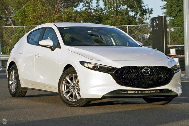New Mazda 3 BP2H7A G20 SKYACTIV-Drive Pure Waitara, 2020 Mazda 3 BP2H7A G20 SKYACTIV-Drive Pure White 6 Speed Sports Automatic Hatchback