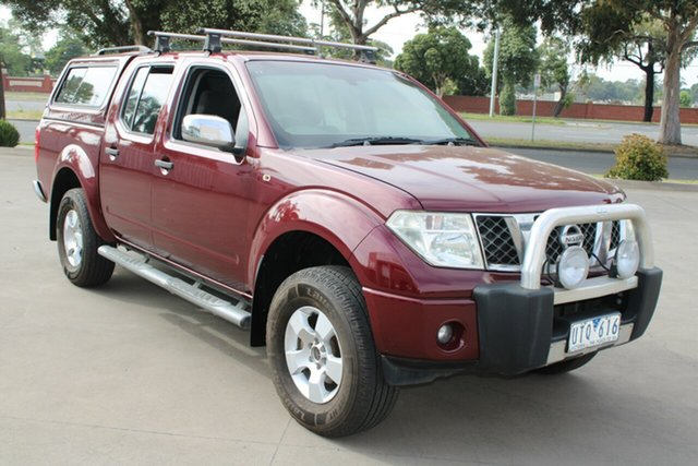 Used Nissan Navara D40 ST-X (4x4) West Footscray, 2007 Nissan Navara D40 ST-X (4x4) Burgundy 6 Speed Manual Dual Cab Pick-up